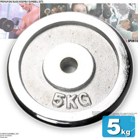 5KG電鍍槓片C113-A0500(單片5公斤槓片.啞鈴片.槓鈴片.舉重量訓練.運動健身器材.推薦哪裡買)