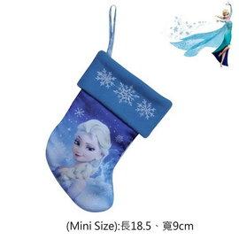 出口美國FROZEN冰雪奇綠ELSA艾莎公主藍底白雪花款聖誕襪^(Mini Size^)聖