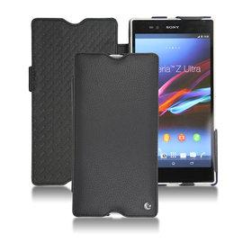 索尼 Sony Xperia Z Ultra Xperia ZU C6802 皮套 座充可 保護套 手機套 手工訂製  法國NOREVE頂級手機皮套  Ambition黑檀色