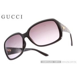 GUCCI 太阳眼镜 GG3622FS D28EU (黑色) 皮革压纹款墨镜 # 金橘眼镜