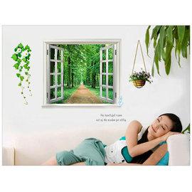 開一扇窗~林森大道  第三代可移除牆貼~可重覆撕貼! 臥室飯廳客廳電視牆沙發背景/壁貼/壁紙牆紙