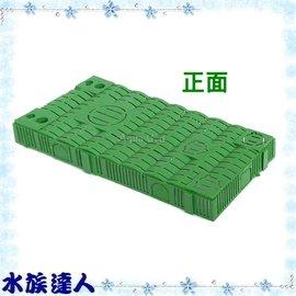 【水族達人】【底部浪板】《簡易型組合式過濾浪板(綠色底板)27.5cm×14cm》底部浪板/過濾浪板/底版過濾