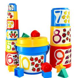 【紫貝殼】『CGA52』【美國B.Toys感統玩具】大口疊疊杯_Battat系列【店面經營/可預約看貨】
