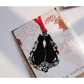 創意金屬書籤 貓的報恩~情侶貓   ◇/書夾/金屬書簽/創意禮品/婚禮小物