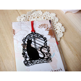 創意金屬書籤 貓的報恩~窗台   ◇/書夾/金屬書簽/創意禮品/婚禮小物