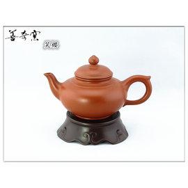 ~善奇窯~^~鶯歌本土紫砂壺^~笑櫻茶壺 175cc 朱泥
