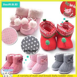 兒童雪靴/學步鞋/防滑底/麂皮靴子/聖誕節【HH婦幼館】