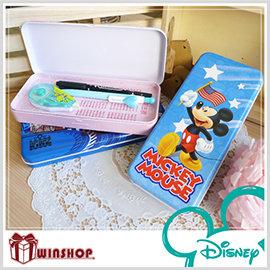 【winshop】B1805 迪士尼卡通雙層鉛筆盒/台灣製造/迪士尼正版授權/文具收納/鐵製鉛筆盒/鉛筆袋/收納盒