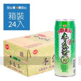 【味丹】心茶道冬瓜茶490ml,24瓶 箱,平均單價15.38元