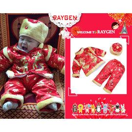 喜氣洋洋過新年‧加厚舖棉綢緞寶寶3件組唐裝/套裝(多款)【HH婦幼館】