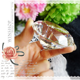【Q禮品】A1811 750克拉水晶鑽石擺飾-直徑6cm/可刻字/超大鑽戒/求婚告白/情人節禮物/婚禮小物/婚紗攝影