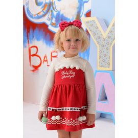 BABYKING 3295可愛球球洋裝^(紅色^)85CM^~130CM