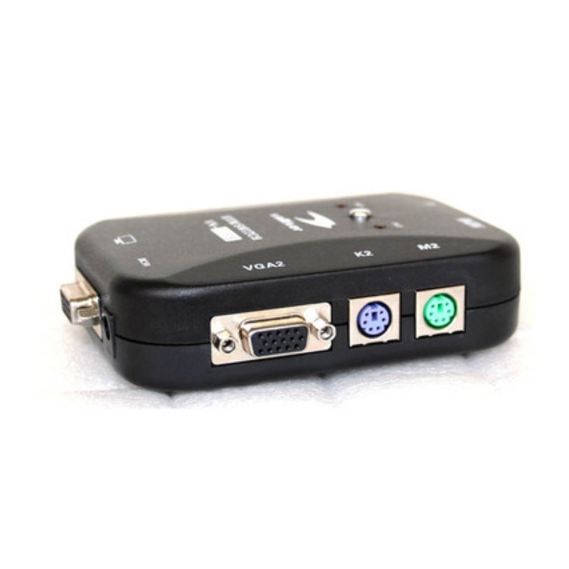 (switch) 手動KVM  VGA PS2 螢幕/鍵盤/滑鼠 二進一出 切換器/分配器