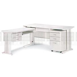 ^~南亞塑鋼傢俱 ^~CD150L主管桌^(整組^)鋼製辦公桌^(07HY94~3OU06
