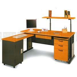^~南亞塑鋼傢俱 ^~SMSA160L主管桌^(深灰腳,含上架,整組^)鋼製辦公桌^(07
