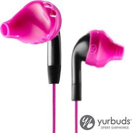 Yurbuds Inspire Duro~Kevlar耐拉扯 耳機~黑粉色~防水.防汗~慢