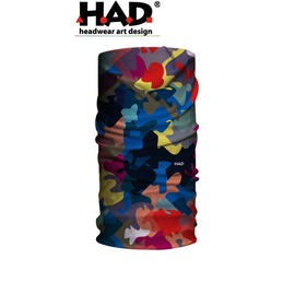 探險家戶外用品㊣HA110-0158 德國製HAD多功能頭巾 城市迷彩 魔術頭巾 重機瑜珈街舞單車排舞