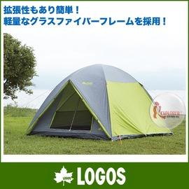 加購自由配㊣NO.71805003 日本品牌LOGOS NEOS 綠楓270M 羽量級六人帳露營雙門帳篷 270*270
