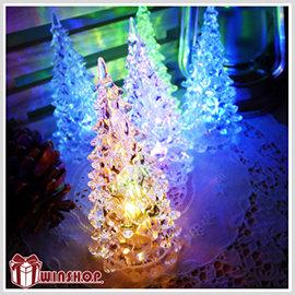 【winshop】A1814 七彩LED聖誕樹燈/LED燈/水晶聖誕樹燈/LED聖誕燈/七彩聖誕燈/小夜燈/裝飾燈/聖誕佈置
