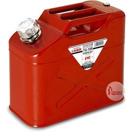 探險家戶外用品㊣TG-10R 日本YAZAWA 10公升 軍規攜帶式油箱 (紅) 防撞防爆汽油桶 備用油瓶油罐TR10 汽化爐汽化燈去漬油瓶