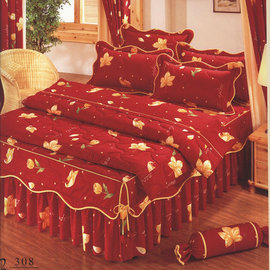 Roberto Mocali 諾貝達.莫卡利-喜事臨門R5S-R308[3.5呎x6.2呎]五件式單人(100%高級精梳純棉)鋪棉床罩組