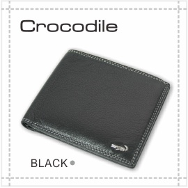 ^~彩虹花 館^~~Crocodile 鱷魚~義大利牛皮 男用 皮夾 短夾 自然摔紋 真皮