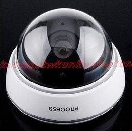~竊盜剋星~高仿真半球型監視器 假攝影機 假監視器 閃爍紅色LED^~^~^!嚇阻效果10