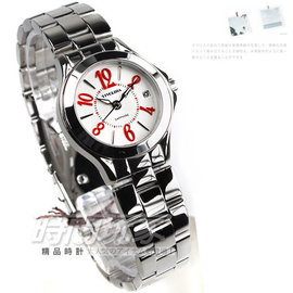 LAW3696~R TIVOLINA單純數字圓錶 銀色不鏽鋼藍寶石水晶玻璃日期27mm防水