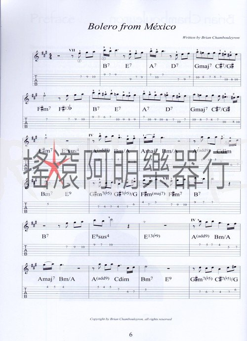 【吉他系列】latin styles for guitar 拉丁吉他谱集