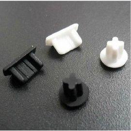 (圓柱型) htc/samsung/LG/sony micro usb孔+3.5mm耳機孔 防塵塞/耳機塞 (1組) 黑/白 [AFO-00015]