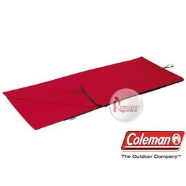 探險家戶外用品㊣CM-0142 美國Coleman 加寬刷毛內袋/紅 睡袋內套 刷毛內套 露宿袋 毛毯睡袋