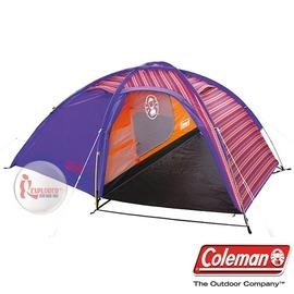 探險家露營帳篷㊣CM-2870 美國Coleman EGG帳篷/印地安搖滾粉 1~2人帳 一房一廳精緻豪華版