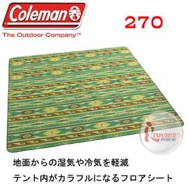 探險家戶外用品㊣CM-7152美國Coleman 防潮內墊地布/270*270 PU發泡睡墊 免自動充氣非PE鋁箔睡墊
