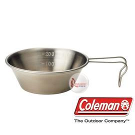 探險家戶外用品㊣CM-2955 美國Coleman 不鏽鋼碗梯形杯/300cc 不鏽鋼提耳碗不鏽鋼杯露營登山