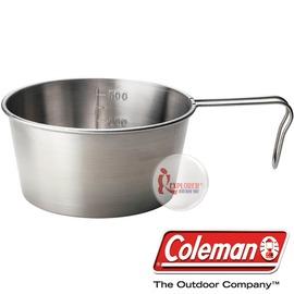 探險家戶外用品㊣CM~2956 美國Coleman 不鏽鋼碗梯形杯 600cc 不鏽鋼提耳
