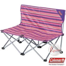 探險家戶外用品㊣CM-3116 美國Coleman FUN情人椅/印地安搖滾粉紅 對對椅 附收納袋 長板凳
