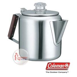 探險家戶外用品㊣CM-8028 美國Coleman 不鏽鋼咖啡壺 不鏽鋼燒水壺鍋 茶壺鍋 煮水壺 湯鍋 露營