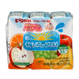 日本【Pigeon 貝親】晨光綜合果汁3入