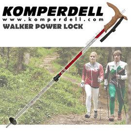【KOMPERDELL奧地利】WALKER POWER LOCK 7075航太鋁合金T型把強力鎖定登山杖(僅240g)/健行手杖.散步拐杖 .極致輕量(非LEKI)_1862420-10