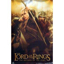 魔戒 精靈神射手Legolas美國原版 巨型電影海報 哈比人荒谷惡龍Lord Of The Rings Return King Legolas Gimli Movie Poster