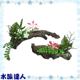 【水族達人】伊士達ISTA《仿真樹皮花草(2入/組) ED-13》造景裝飾/水草/枯木/木頭/枯樹/樹枝
