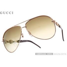 GUCCI 太阳眼镜 GG4225S X5MCC (玫瑰金-气质棕) 雷朋经典飞官款 墨镜 # 金橘眼镜