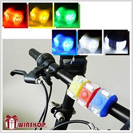 【Q禮品】B1826 矽膠單色LED青蛙燈/閃光燈 警示燈 LED燈 腳踏車燈 自行車燈 第六代青蛙燈