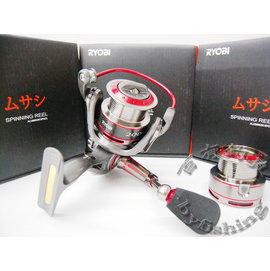◎百有釣具◎日本RYOBI  武藏 八培林 雙線盃 捲線器3000型