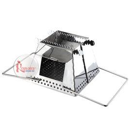 探險家戶外用品㊣GU0417 不鏽鋼燒材爐 桌上型燒烤爐焚火台起火師暖爐火箭爐 非UNIFLAME
