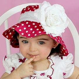 ~MerryGoAround~ Fancy That Hat 嬰幼兒防曬遮陽帽: 玫瑰: