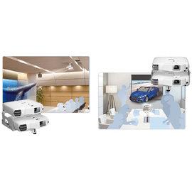 EPSON EB~W16SK 投影機 以兩台3000流明的堆疊式投影機投影出單一畫面,達成