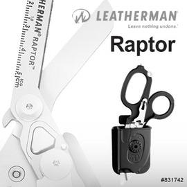 探險家戶外用品㊣831742 美國 Leatherman Raptor消防救助多功能醫療剪刀 附套 氧氣瓶板手 割繩刀
