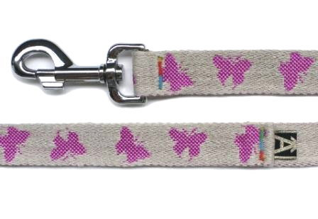 紫紅色牽繩