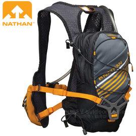 【美國 NATHAN】Zelos 熱血運動水袋背包(9L容量.附2L水袋)/三向穩定系統.馬拉松路跑.越野跑步運動 /NA5030NG 灰